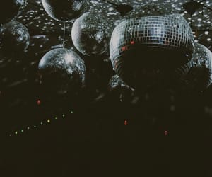 35mm, black and white, and disco ball image