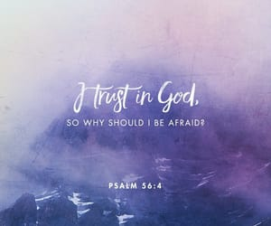 god, trust, and bible image