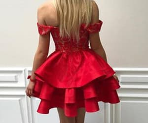 prom dress, homecoming dress, and red prom dresses image