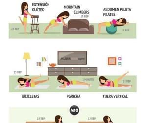 gluteos, ejercicio, and rutinas de ejercicio image
