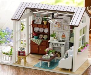 barbie, children, and house furniture image