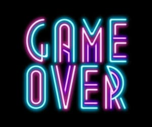 neon, wallpaper, and game over image