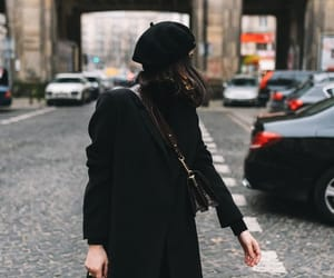 autumn, black clothes, and style image