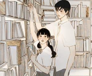 aesthetic, boy and girl, and couple image