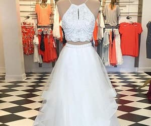 cute prom dresses, a-line prom dresses, and sleeveless prom dresses image