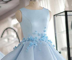 blue prom dress, cheap prom dress, and prom dress unique image
