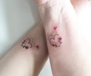 corazones, couple, and heart image