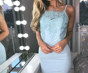 homecoming dresses, lace homecoming dress, and blue party dress image