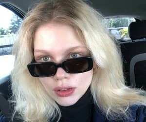blonde girl, car selfie, and blondie image