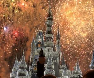 disney, fireworks, and lights image