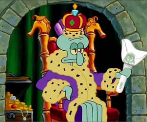 king, spongebob, and squidward image