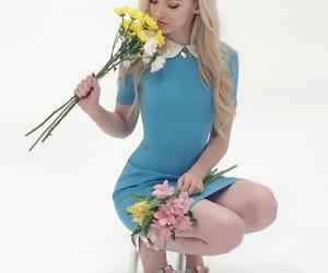 azul, flores, and fotografía image