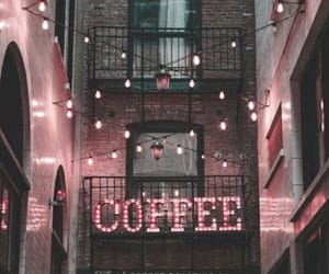 coffee, pink, and light image