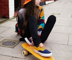skate, yellow, and skateboard image