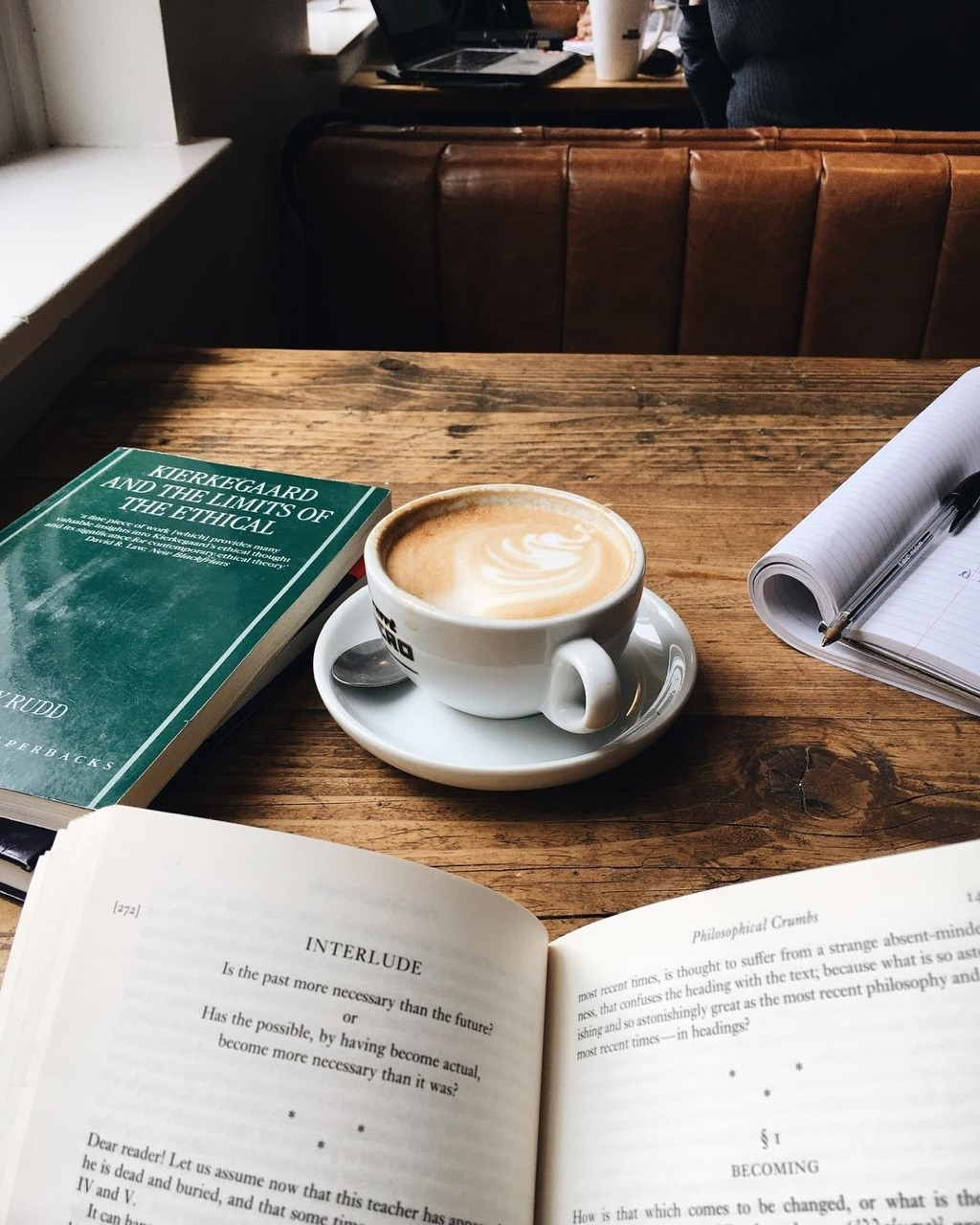 book, coffee, and cafe image