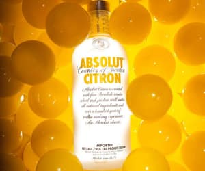 absolut, citron, and yellow image