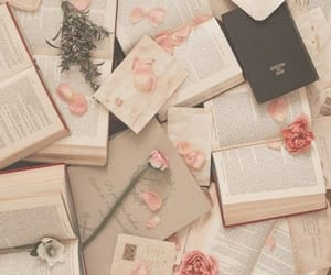 book, aesthetic, and rose image
