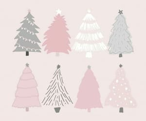 wallpaper, christmas, and pink image