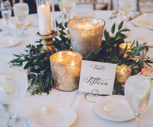 wedding, candle, and table image