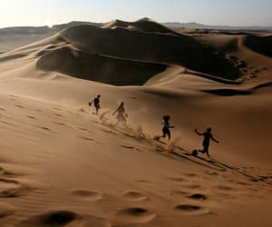 desert, dune, and people image