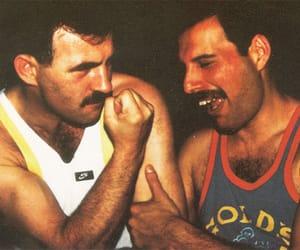 Queen, jim hutton, and Freddie Mercury image