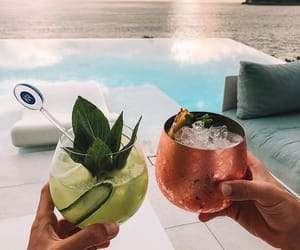 Cocktails, girl, and hangout image