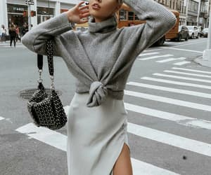 boots, knitwear, and turtleneck image