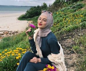 autumn, fashion, and hijab image