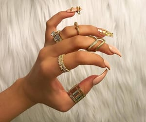 boy, girl, and nails image