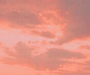 sky, aesthetic, and peach image