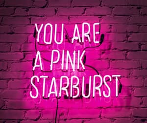 pink, neon, and starburst image