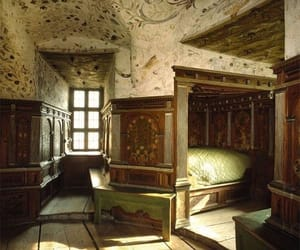 bedroom, medieval, and fancy image