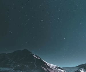 stars, mountains, and wallpaper image