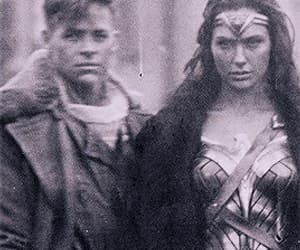 chris pine, gif, and wonder woman image