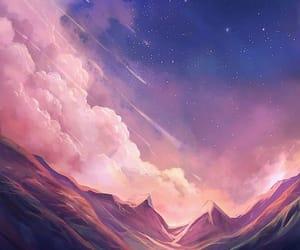 art, sky, and stars image