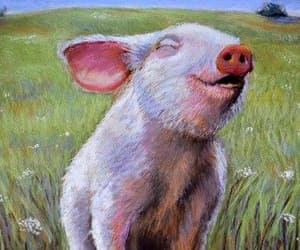 Animales, arte, and pig image