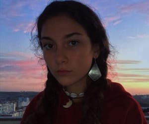 beauty, fashion, and sunset image