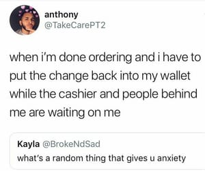 anxiety, comedy, and funny image
