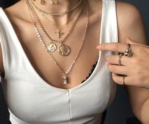 style, necklace, and jewelry image