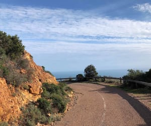 cannes, road, and rocks image