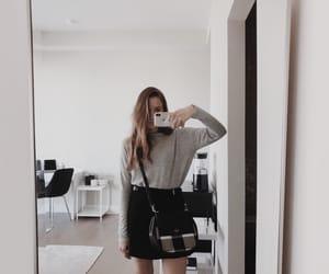 black, girl, and grey image