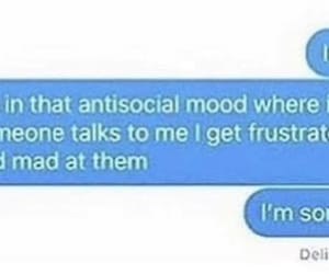 antisocial, idk, and mad image