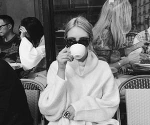 black&white, caffe, and france image