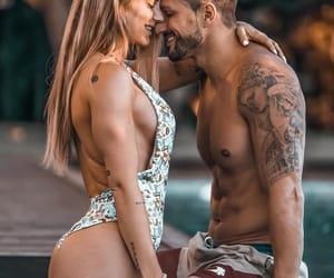 abs, kiss, and couple image