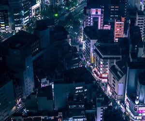 city, tokyo, and neon city image