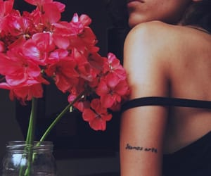 femme, flower, and tattoo image