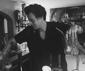 Harry Styles, black and white, and styles image
