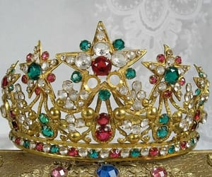crown, emerald, and fantasy image