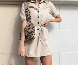 fashion, leather, and leopard image