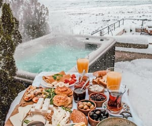 snow, breakfast, and food image